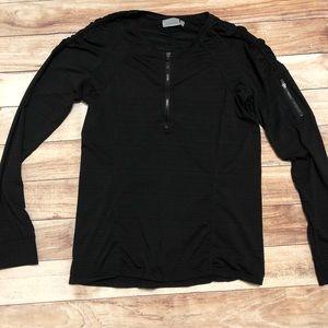 Athleta black 1/4 zip pullover long sleeve large
